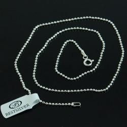 Łańcuszek Srebrny 60cm Kulki 1,5mm ze srebra 925