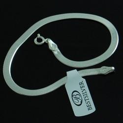 Bransoletka ze srebra Taśma Damska 19cm
