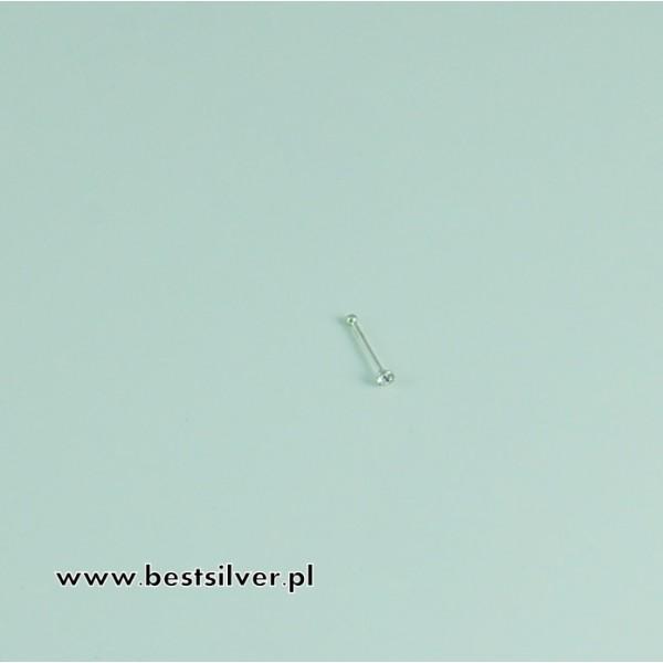 Kolczyk Srebrny do nosa z cyrkonią Srebro pr 925