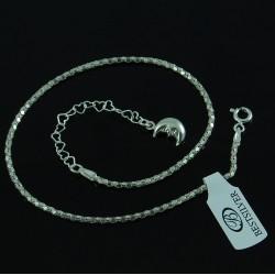 Bransoletka na kostkę Koreana 23cm + 5,5cm Srebro pr 925