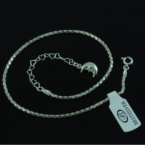Bransoletka na kostkę Koreana 24cm + 5,5cm Srebro pr 925