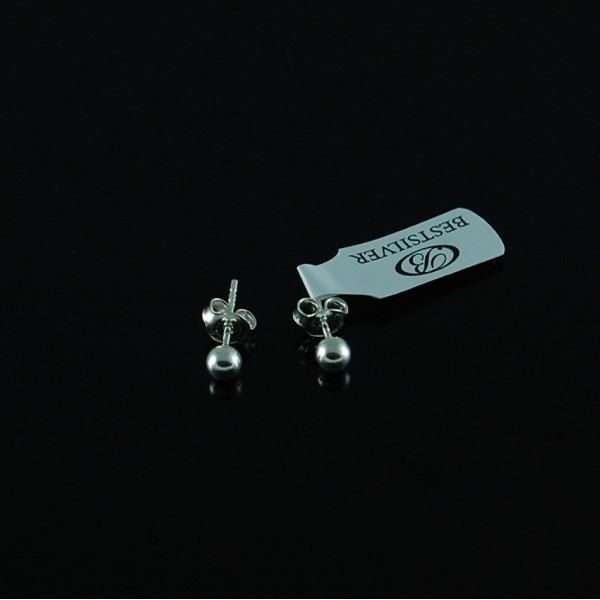 Kolczyki Srebrne Kulki 4mm Kule Srebro pr 925