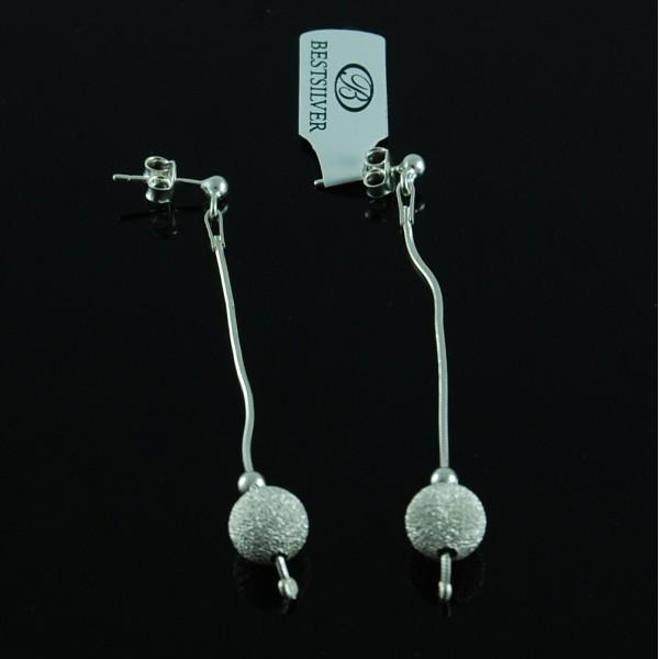 Kolczyki Srebrne z kulką Ślubne SREBRO eleganckie