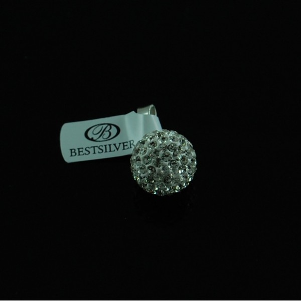 Wisiorek Srebrny Discoball Swarovski 14mm kulka Crystal