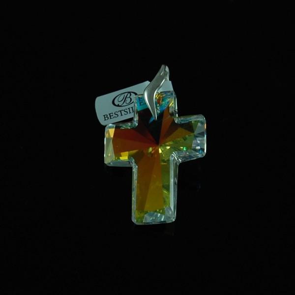 Krzyż duży zawieszka Swarovski Crystal AB