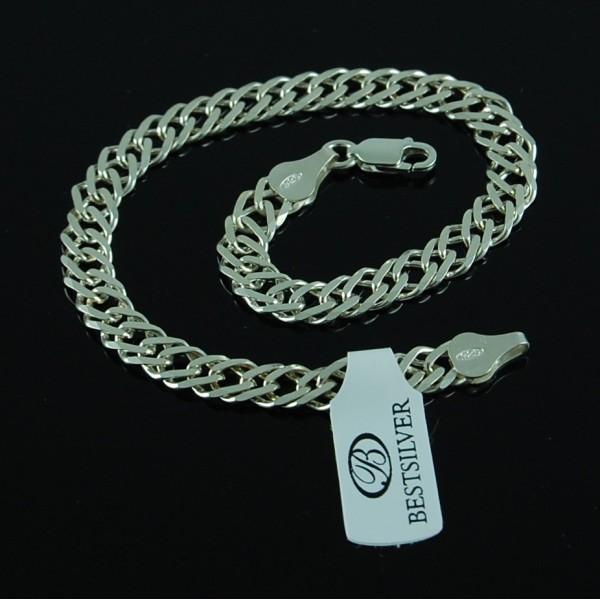 Bransoletka Srebrna Damska 19,5cm Rombo ze srebra