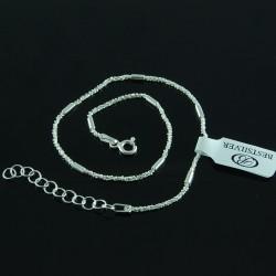 Bransoletka na kostkę ze srebra bardzo modna i elegancka Srebro 925