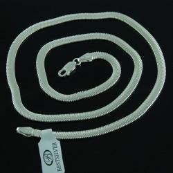 Srebrny Łańcuszek Szeroka Żmijka 4,5mm 50cm SREBRO