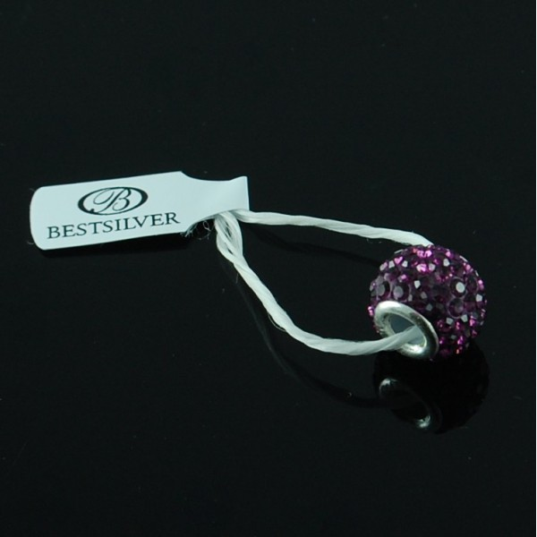 Koralik do biżuterii Ametyst Swarovski Beads Biżuteria Modułowa