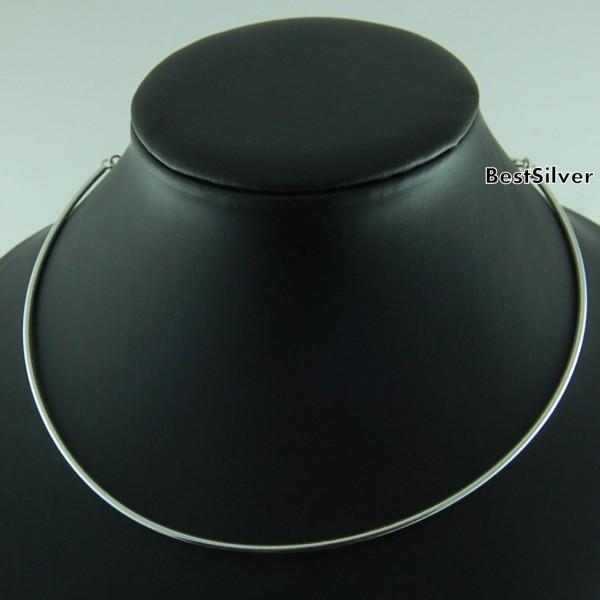 Naszyjnik Rurka 2mm Srebrny dla kobiet Srebro 925