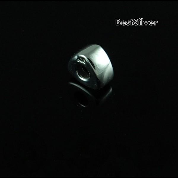 Koralik Srebrny modułowy Trójkąt do bransoletki SREBRO pr 925