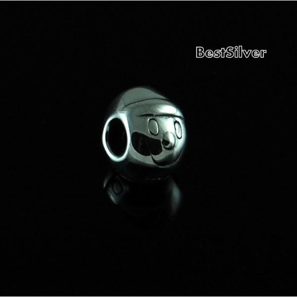 Koralik Srebrny modułowy Głowa Chłopca SREBRO pr 925