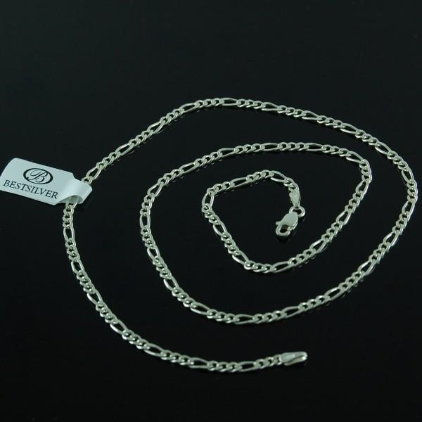 Łańcuszek Srebrny Figaro 50cm 2,5mm SREBRO próby 925