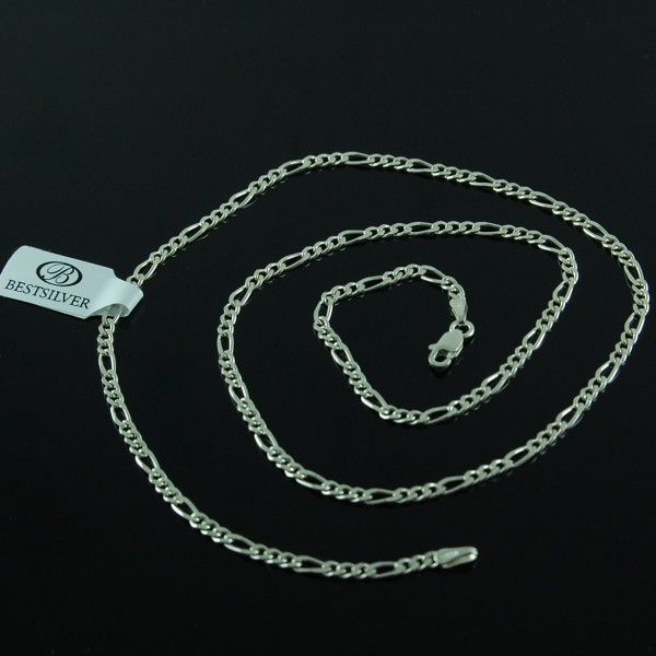 Łańcuszek Srebrny Figaro 60cm 2,5mm SREBRO próby 925