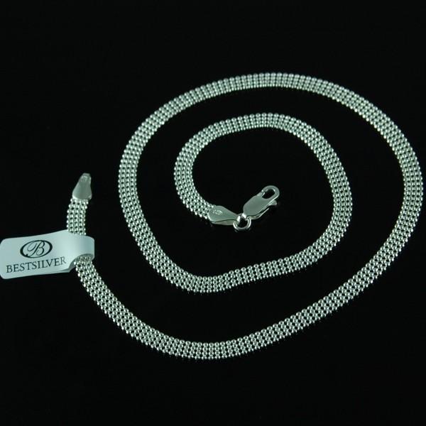Naszyjnik Srebrny Damski 4 rzędowe kulki SREBRO 925