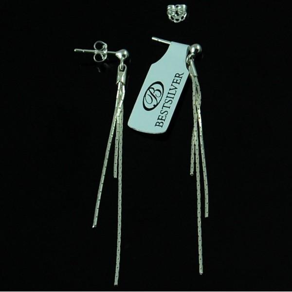 Kolczyki Srebrne wiszace potrójne cardano SREBRO 925
