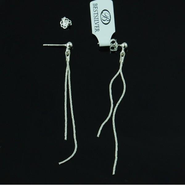 Kolczyki Srebrne wiszące podwójne sztyfty Cardano SREBRO