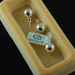 Kolczyki Srebrne KULKI 10mm + zawieszka srebrna komplet SREBRO 925
