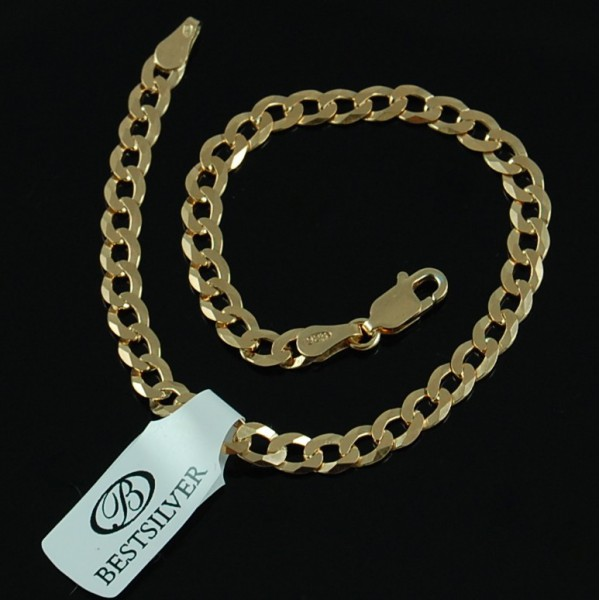 Bransoletka Pancerka Złocona 21,5cm 4,5mm biżuteria męska