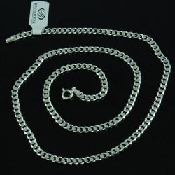 Łańcuszek Srebrny Męski Pancerka Soczewkowa 4mm 50cm