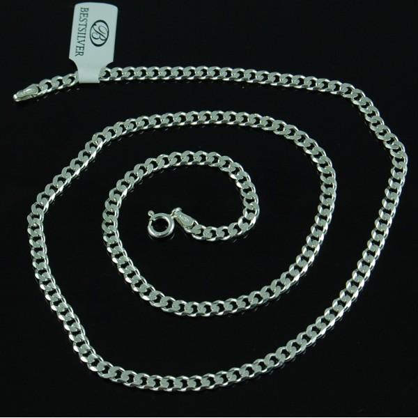 Łańcuszek Srebrny Męski Pancerka Soczewkowa 4mm 55cm