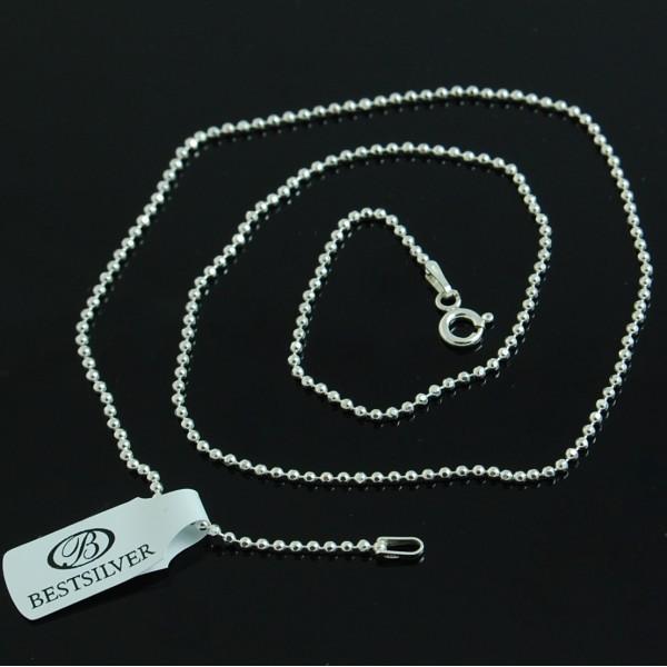 Łańcuszek srebrny 40 cm Kulki ze srebra 1,9mm