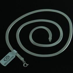 Naszyjnik Srebrny Damski Taśma Szeroki 50cm