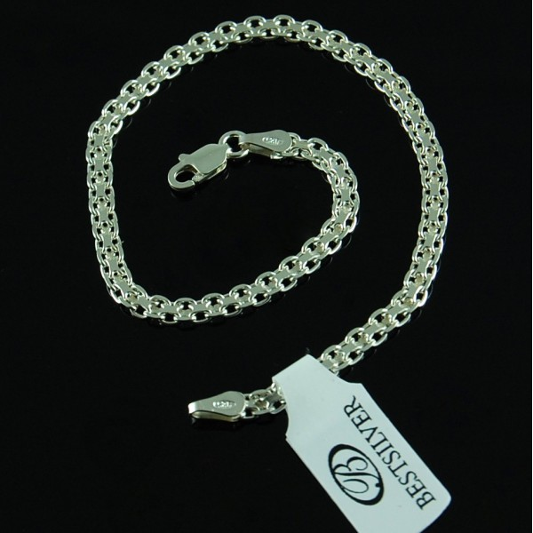 Bransoletka srebrna damska Bismark 3mm 19cm Srebro 925