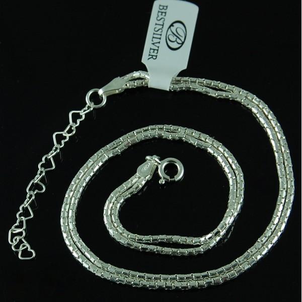 Bransoletka na kostkę Podwójna Koreana 25cm + 4cm