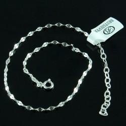Bransoletka na kostkę mniejsza MOCCA z przedłużką SREBRO 925