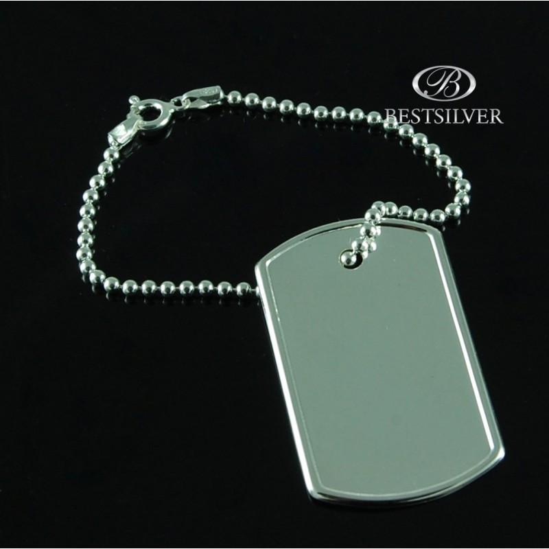cf8ac83c13c81a Nieśmiertelnik srebrny Męski Wojskowy SREBRO sklep pojedynczy. Loading zoom
