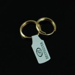 Kolczyki Srebrne koła złocone małe oponki SREBRO