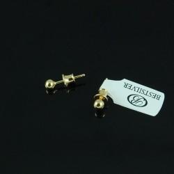 Kolczyki Srebrne kulki 4mm pozłacane srebrne