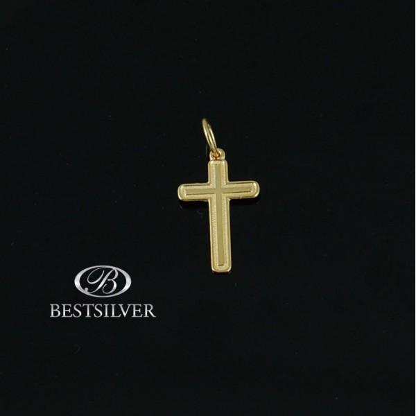 Krzyżyk Srebrny Srebrny pozłacany Męski