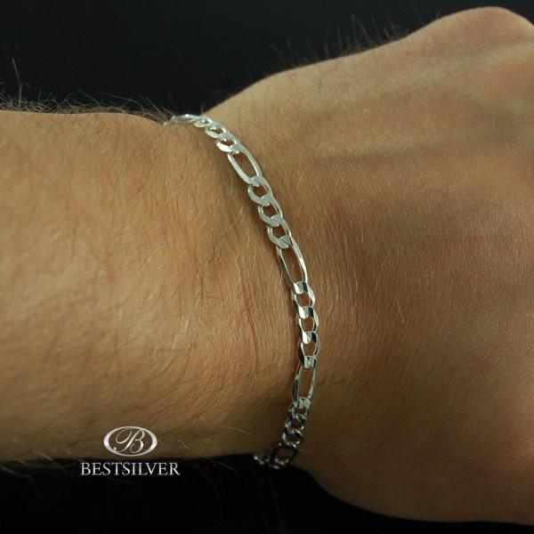 Bransoletka Srebrna FIGARO 5mm 21cm Srebro biżuteria męska