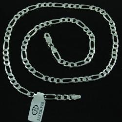 Łańcuszek Srebrny FIGARO soczewkowy 55cm 5mm Srebro 925