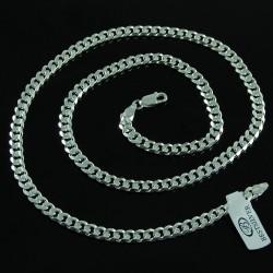 Łańcuszek Srebrny Męski PANCERKA 55cm 5,3mm SREBRO 925