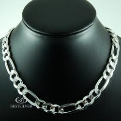 Łańcuszek Srebrny FIGARO masywny 60cm 10,5mm Srebro 925