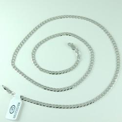 Łańcuszek Srebrny 50cm Pancerka 3,5mm rodowany Srebro 925
