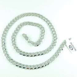 Łańcuszek Srebrny Męski Pancerka 50cm 7mm rodowany srebro