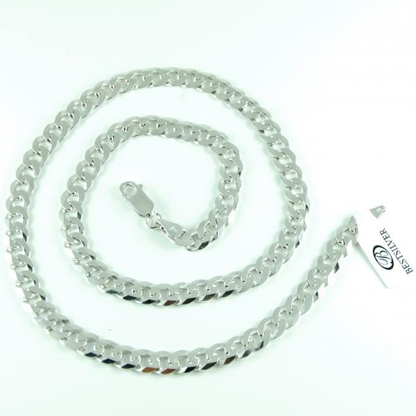 Łańcuszek Srebrny Panerka 50cm 7mm rodowany Męski srebro