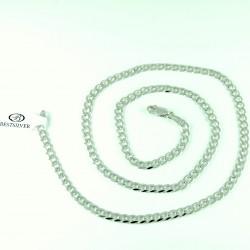 Łańcuszek Srebrny 55cm Panerka 4,5mm rodowany Srebro 925