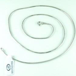 Łańcuszek Srebrny żmijka 1,5mm 50cm Rodowany Srebro
