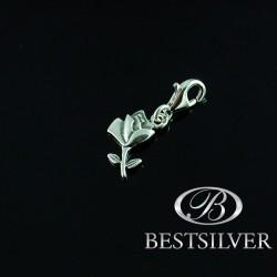 Zawieszka Srebrna charms Róża ze srebra próby 925