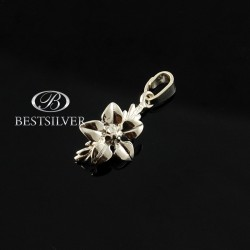 Zawieszka srebrna damska kwiatek srebro 925