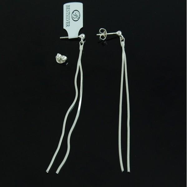 Kolczyki Srebrne podwójne wiszące i długie 15cm