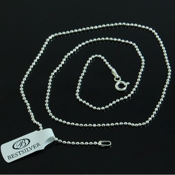 Łańcuszek Srebrny 70cm Kulki 1,5mm ze srebra 925