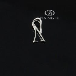 Krawatka Srebrna do kryształów swarovski W1