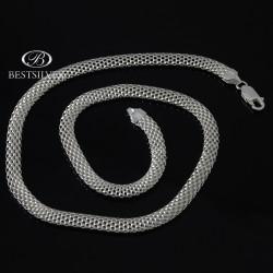 Naszyjnik srebrny Włoski Cora 45cm 6mm SREBRO