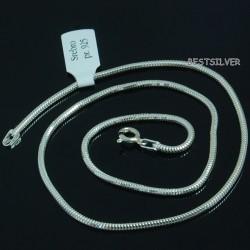Srebrny lancuszek Żmijka 2mm okragla 55cm ze srebra